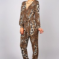 Luster Leopard Jumpsuit   Trendy Clothes at Pink Ice