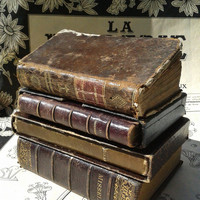 OLD BOOKS Request Custom Item - For ONE Antique French Religious Book leather bound, 1800's/1900's Old Books