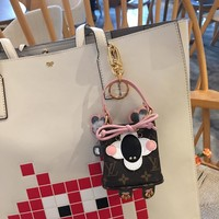 Louis Vuitton Lv Accessories Key Holders & More Wild Puppet Neonoe Koala Bag Charm And Key Holder M67397 - Best Online Sale