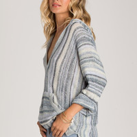 Billabong - Island Baja Hooded Beach Sweater | Blue Rinse