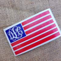 American Flag car decal sticker America Car Monogram Decal Monogram Vinyl Decal Monogram Gift Monogram sticker Car sticker Vinyl Lettering