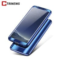 CTRINEWS 360 Degree Plating Mirror Case For Samsung Galaxy Note 8 S8 S7 Edge Luxury PC Full Cover For Samsung Note 8 Phone Case