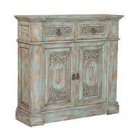 Vintage Hall Chest Green