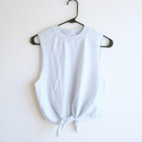 Front Tie Crop Top Soft Grunge Clothing by TheGoldenCat on Etsy
