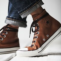 Converse Womens Vintage Leather Travel Chucks