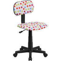 Flash Furniture Multi-Colored Dot Printed Computer Chair - BT-D-MUL-GG