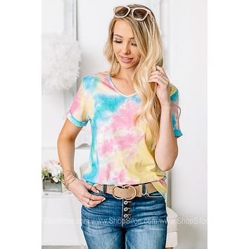 Fun In The Sun Tie Dye Short Sleeve Top