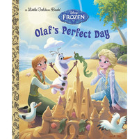 A Little Golden Book Disney Frozen Olaf's Perfect Day Hard Cover