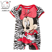 Mickey Minnie Cartoon Baby Romper Short Sleeve Cute Clothes Baby Girl One Pieces Jumpsuits Roupas De Bebe Infantil Baby Clothing
