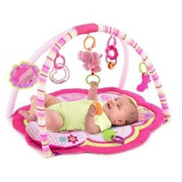 Bright Starts Baby Activity Gym Play Mat Teething Toys Rattles Music Girl Pink