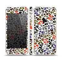 The Multicolored Leopard Vector Print Skin Set for the Apple iPhone 5s