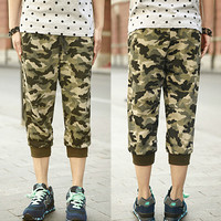Camouflage Print Men Street Style Jogger Shorts