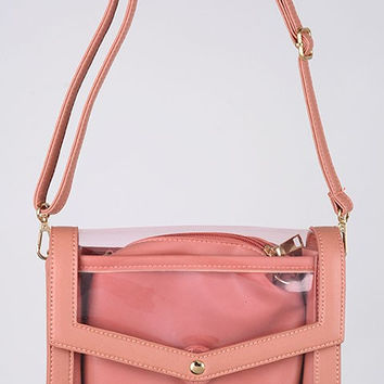 Clear Strap Shoulder Bag