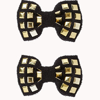 Studded Bow Hair Clips   FOREVER 21 - 1055547578