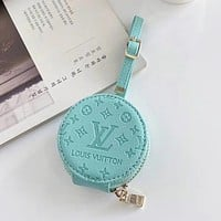 Louis Vuitton LV air pods1/2 Apple wireless bluetooth headset protective case pro universal zipper storage bag air pods 3