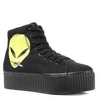 Jeffrey Campbell Sneaker Hiya in Black with Reefer Alien