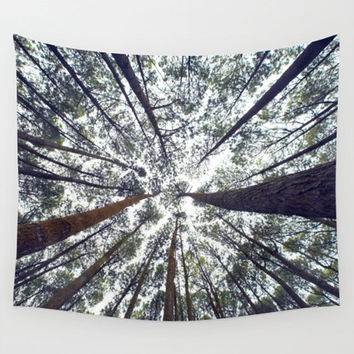 Wall Tapestry, Tree Tapestry, Wall Hanging, Trees Forest Woods Sky, Nature Wall Art, Large Photo Wall Art, Modern Tapestry, Home Decor