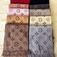 lv louis vuitton trending women men embroider easy to match scarf scarves accessories 12 color i yh ftmpf
