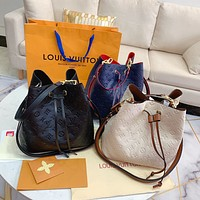 LV NEONOE Embossed Letter Drawstring Bucket Bag Shoulder Bag
