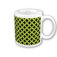 Acid And Black Seamless Mesh Pattern Mugs from Zazzle.com
