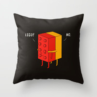 I'll never lego Throw Pillow by Ilovedoodle