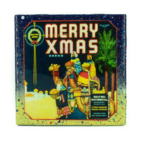 * Stella Divina * | Handmade Coaster Merry Christmas 3 Kings Brand - Vintage Citrus Crate Label - Handmade Recycled Tile Coaster | Online Store Powered by Storenvy