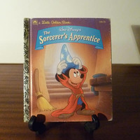 "Vintage 1994 Children's Book Walt Disney's ""The Sorcerer's Apprentice"" - A little Golden Book / Mickey Mouse / Children's Book"
