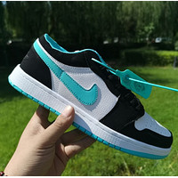 NIKE Air force 1 Nike Sb Dunk Low Pro Hot sale classic color matching casual shoes for men and women Shoes sports shoes sneakers Blue&Black&White