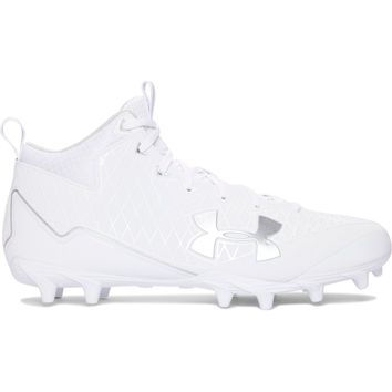 Under Armour Banshee Mid Cleat - White