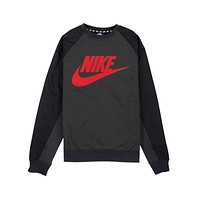 Nike Men's Hybrid Crew Neck Sweatshirt Black Red