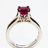 """Ruby, ruby ring, ruby solitaire ring, birthstone ring, red, ruby jewelry, s 7  """"Ruby Red Lips"""""""