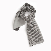 STRING THEORY ? How to knit Scarf Black & White