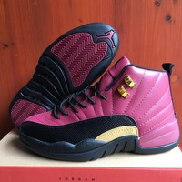 Air Jordan 12 Retro Aj12 Black/wine Red Sport Shoes 41 47 | Best Deal Online