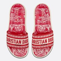 Dior DWAY SLIDE early spring new jacquard embroidery sandals Shoes