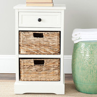 Milan End Table in Cream