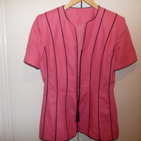 Hot Pink Rocker Short Sleeve Jacket