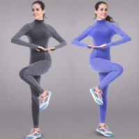 Fitness Workout Clothing And Women's Gym Sports Running Girls Slim Leggings+Tops Women Yoga Clothes Sets Bra+Pants Sport Suit