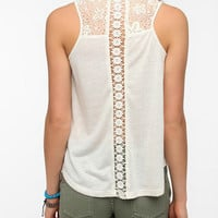 Pins and Needles Inset-Lace Tank Top