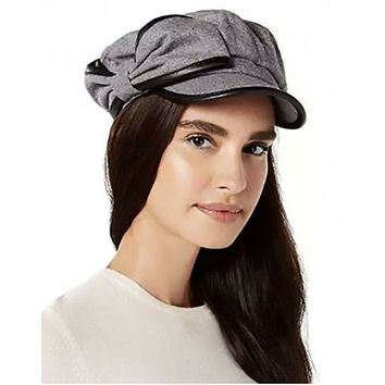 I.n.c. Flannel & Faux-Leather Newsboy Cap, Created for Macys Various Sizes, Col