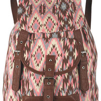 Brown/Pink Combo Backpack