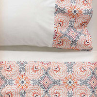 Anthropologie - Ria Embroidered Sheet Set