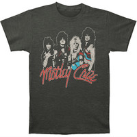 Motley Crue Men's  Final Tour Vintage Vintage T-shirt Heather Graphite