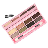 Shimmer Eyeshadow Makeup Palette by nanda Lasting Waterproof Eyeshadow L4 SM6