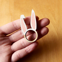 Bunny Rabbit Ears Ring Wooden