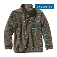 Patagonia Men's Synchilla® Recycled Snap-T® Fleece Pullover | Slowfoot: Fatigue Green