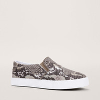 Snake Print Slip-On Sneakers