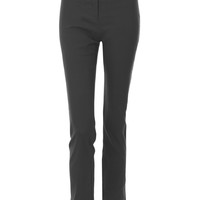 LE3NO Womens Stretchy Straight Leg Office Suit Pants with Faux Leather Belt
