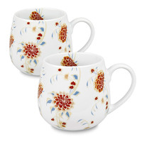 Waechtersbach 4211430335 Konitz White and Red Snuggle Beautiful She Says Mugs, Set of Two