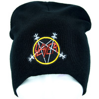 Slayer Reign in Blood Beanie Heavy Metal Clothing Knit Cap