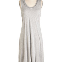 ModCloth Mid-length Sleeveless High-Low Hem Got it Braid in the Shade Dress